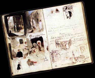 Delacroix: Streets, shops and walls of Meknes.