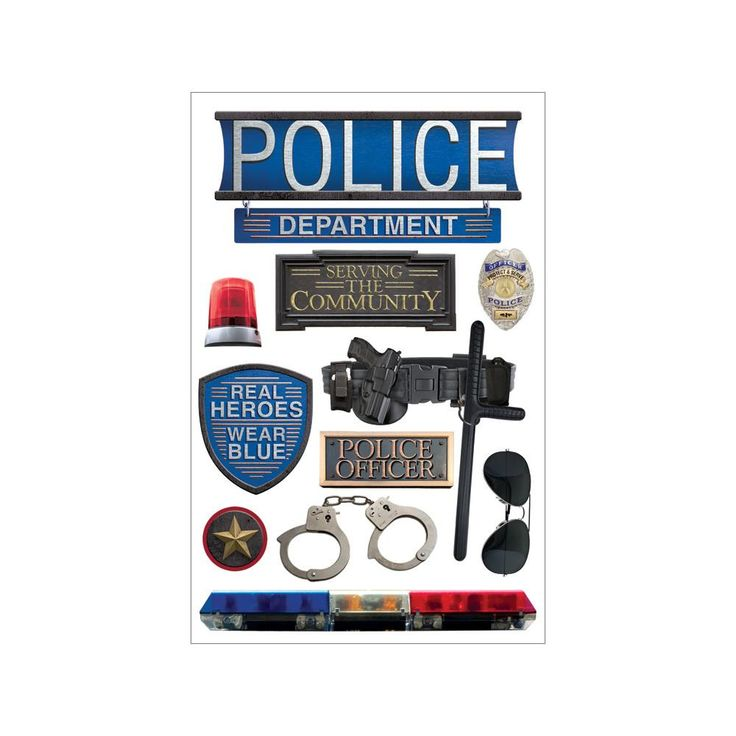 Paper House Police Stickers