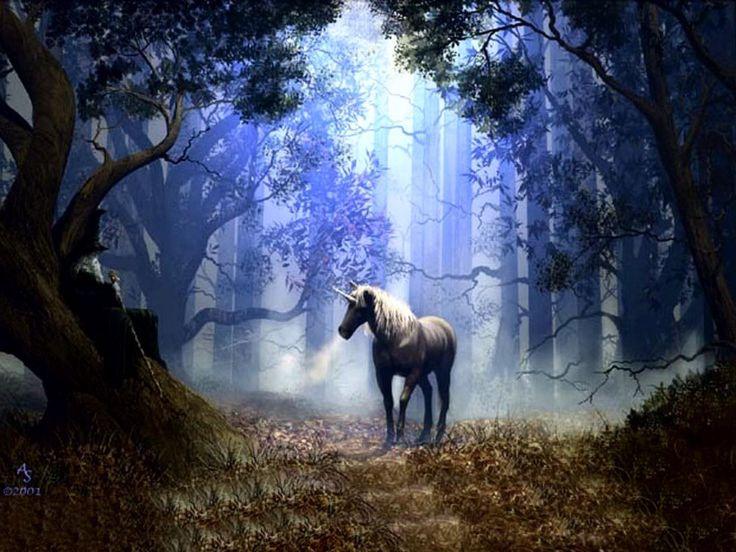 Таинственный лес и единорог