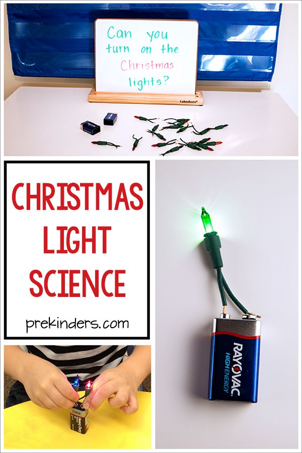 Set up this Christmas Lights Science display in your science center and let kids explore and discover how to turn on the Christmas lights. This is a simple
