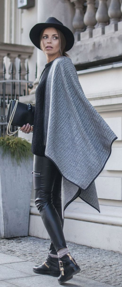 111 best poncho scarf images on Pinterest | Ponchos, Winter style ...