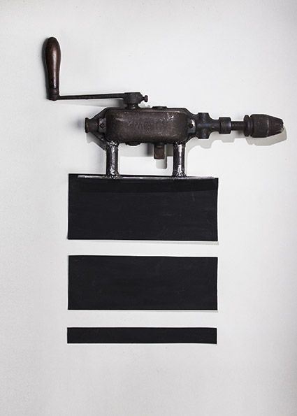 DRILL - Maurizio Di Feo - 1921/2016 -Stampa lambda #mauriziodifeo #artistaitaliano #milanoarte #art #contemporaryart #mixedmediapainting #assemblageart
