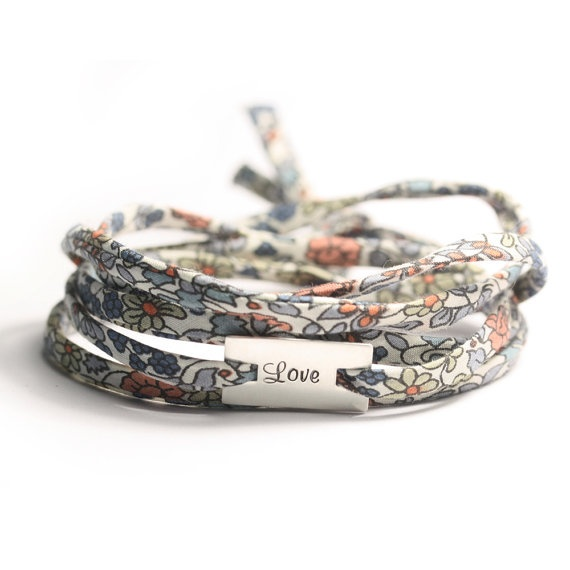 Silver charm bracelet liberty wrap bracelet by simplyyoujewelry