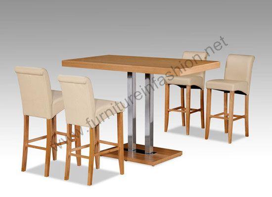Trinidad oak high bar table only argos pinterest