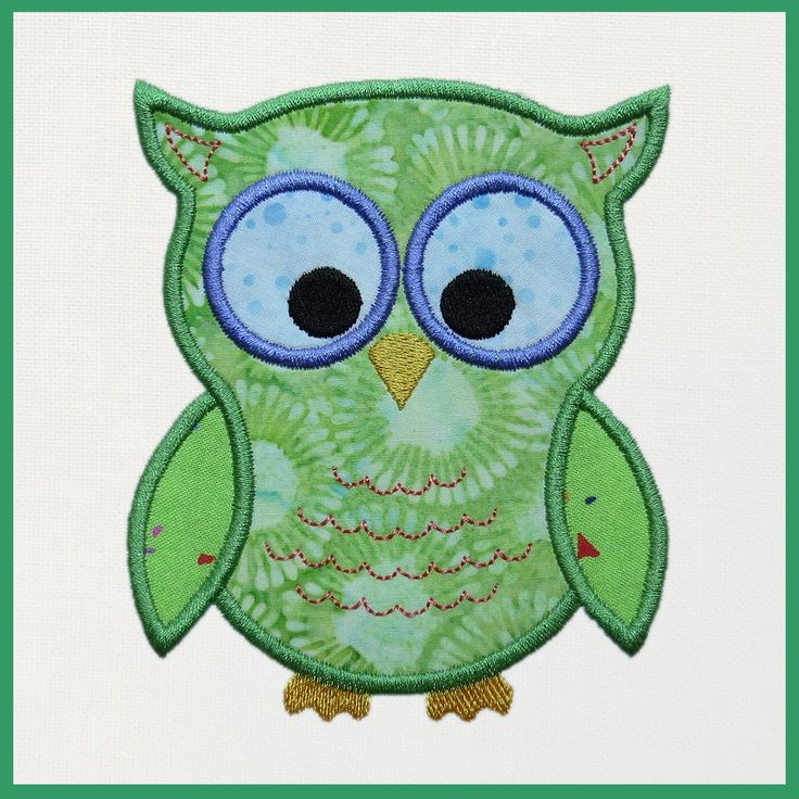 "This FREE machine embroidery appliqué download includes a single design to be used with the Accuquilt GO!™ Owl die (55333) The die is available exclusively at your local Jo-Ann Fabric store and JoAnn.com.  The appliqué is completed with a satin stitch.Hoop Size: Design fits a 5"" x 7"" (120 x 250 mm) machine embroidery hoop.     Machine Formats Included in a Single Zip File:  ART, dst, exp, hus, jef, pes, shv, vip, vp3, xxx.  Designs Included: 1  owl design ..."