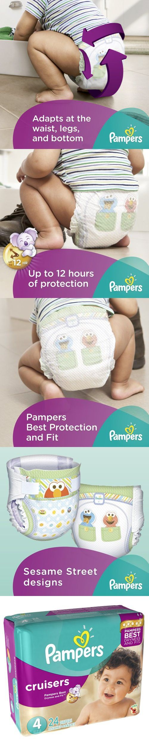Pampers Cruisers Diapers Size 4 Jumbo Pack, 24 ct