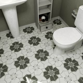 SomerTile 7.75x7.75-inch Thirties Circle Ceramic Floor and Wall Tile (Case of 25) - 16357610 - Overstock Shopping - Big Discounts on Floor T...