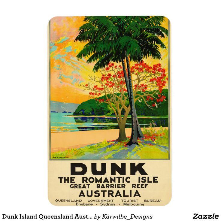 Dunk Island Australia: Dunk Island Queensland Australia Travel Poster Magnet