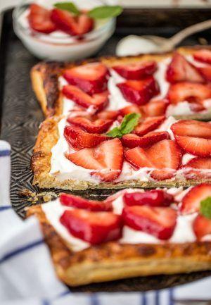 Puff ?pastry Strawberry Tart