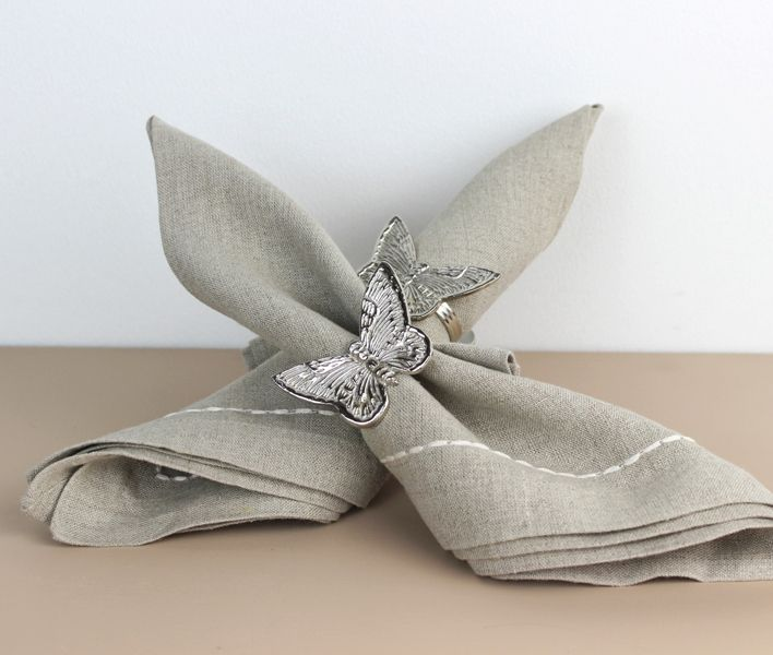 Napkin ring Butterfly s/4