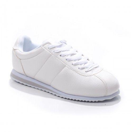 Pantofi sport dama Cataneo albi confortabili