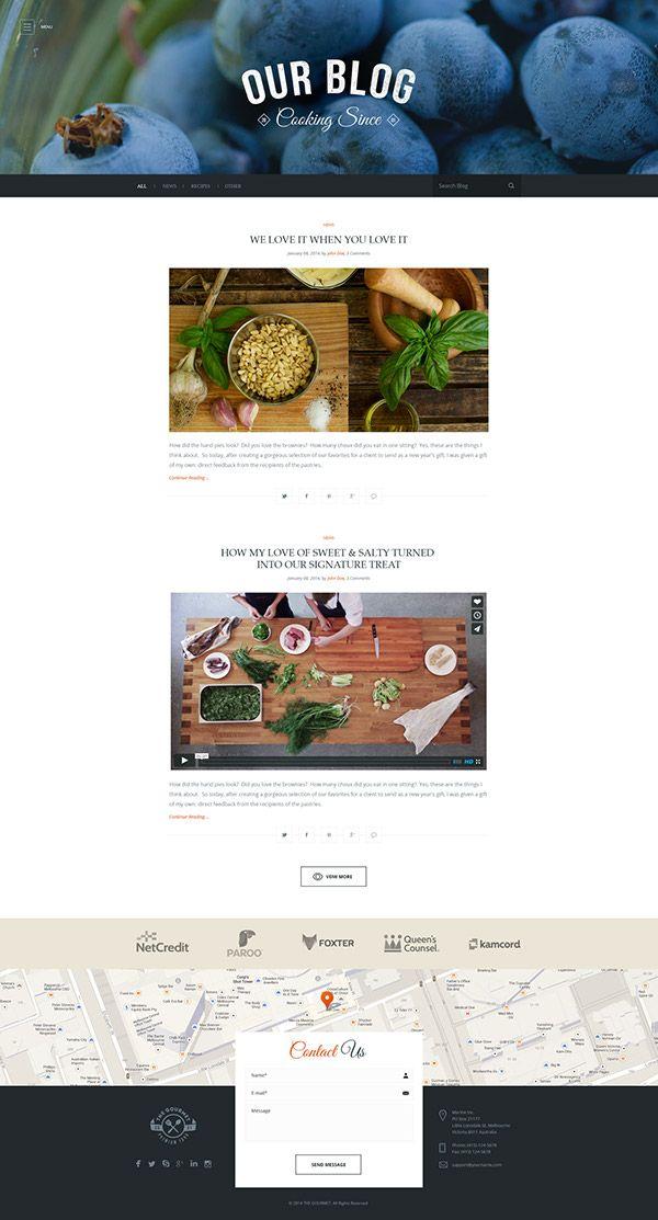 Food Wordpress Skin for Marine WP Theme