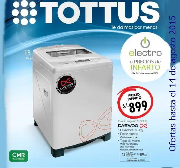 Catalogo Electro Tottus del mes de agosto 2015