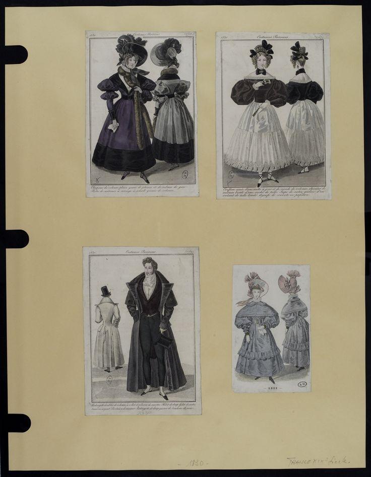 Mode. [XIXe siècle]. 1830 Redongote, gilet, pantalon