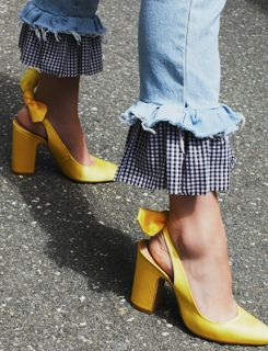 Just a pop of color and a little #gingham surprise.