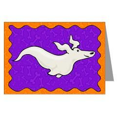 Ghost Dog Greeting Cards (Pk of 10)> DACHSHUND HALLOWEEN CARDS> Dogs, Cats, Creatures and Critters by Terry Pond