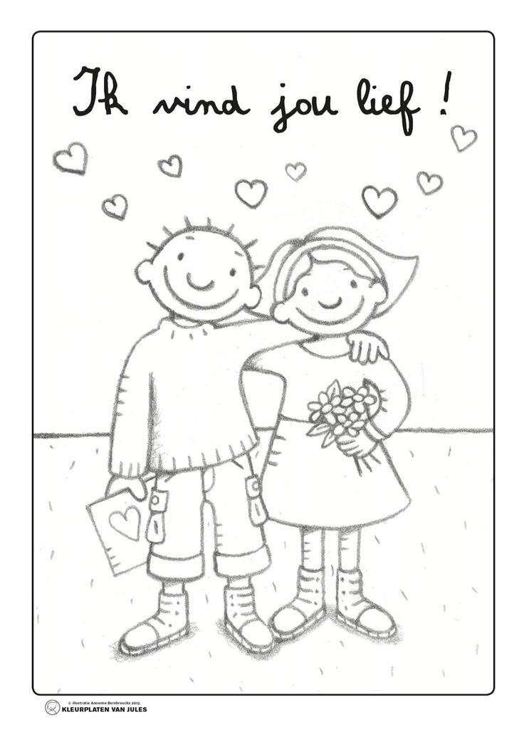kleurplaat jules valentijn jules gevoelens