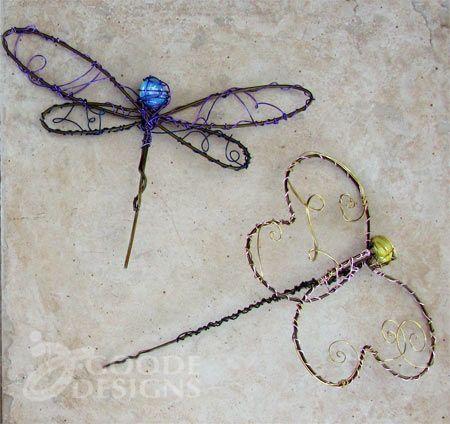 diy ~ garden art from wire hangers