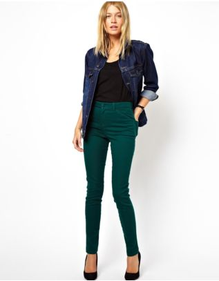 High Waist Pants in Twill