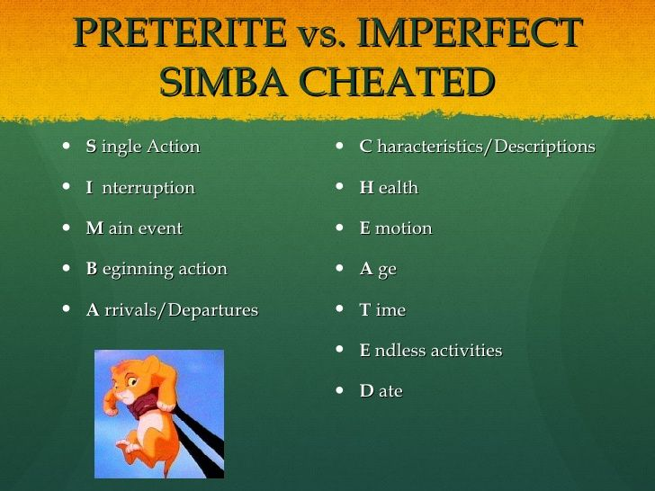 Spanish Tank Game: preterite vs imperfect 1