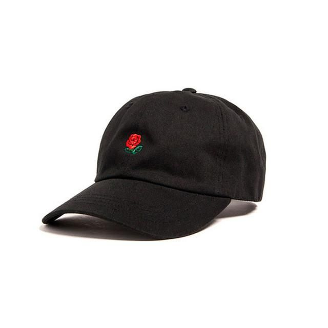 100% Cotton Rose embroidery hat black cap snapback hip hop dad cap designer hats drake men women Visor hat skateboard gorra bone