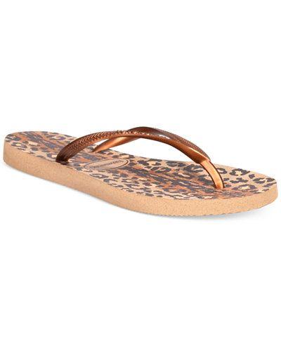 Simple Havaianas Women us Slim Animal Flip Flops