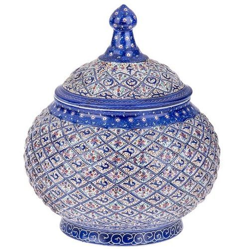 master esmaili    CANDY DISH ENAMEL MINA-KARI Enamel working and decorating metals with colorful and baked coats is one of the distinguished courses of art in Isfahan .