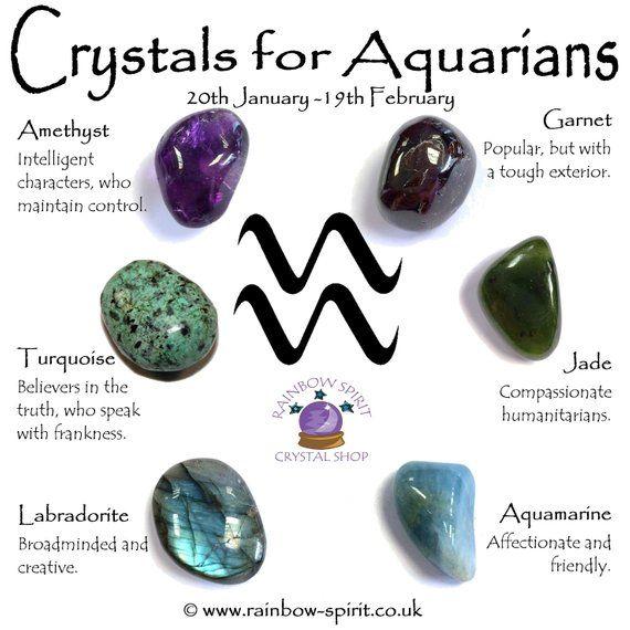 Aquarius Birthstones Crystal Set Zodiac Stones Crystal Healing Stones Crystals
