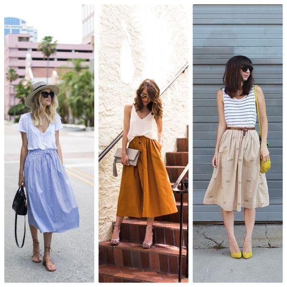 Envie couture #1 : La jupe midi