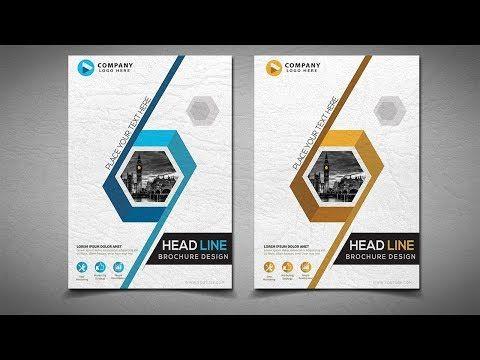 Illustrator Tutorial business brochure design - YouTube