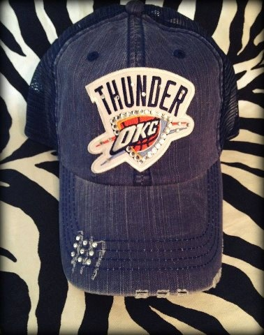 OKC Thunder Basketball Mesh Baseball Bling by BlingyBlondeDesigns on Etsy & Facebook, $31.50
