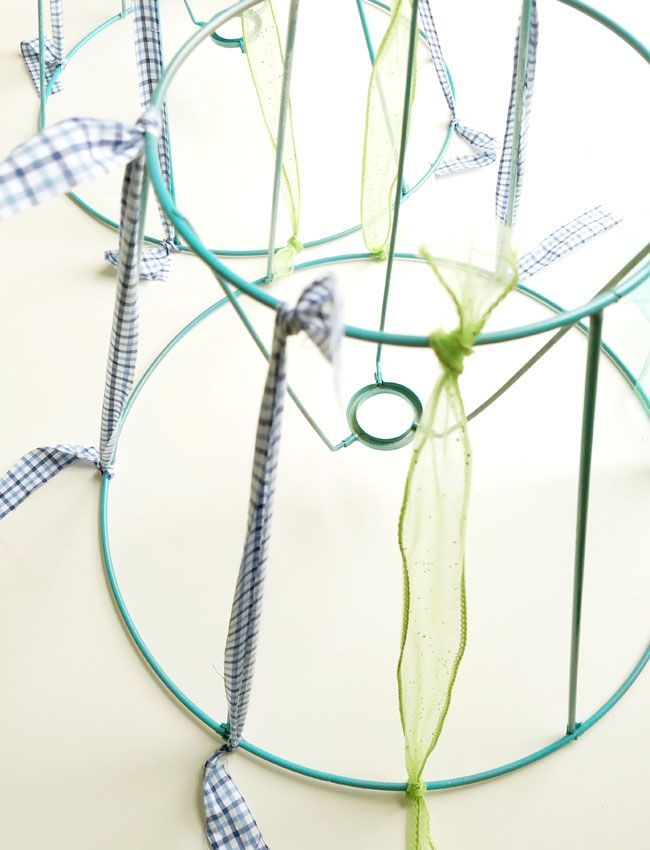 How To Re Cover A Lamp Shade With Fabric Strips Floorlamps With