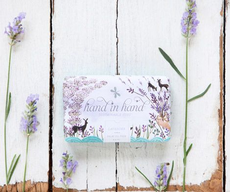 hand in hand soap - design & art direction by oh joy, illustrations by emma block: Hands Soaps, Hands Packaging, Soaps Design, Packaging Design, Lavender Soaps, Oh Joy, Art Direction, Fair Trade, Soaps Packaging
