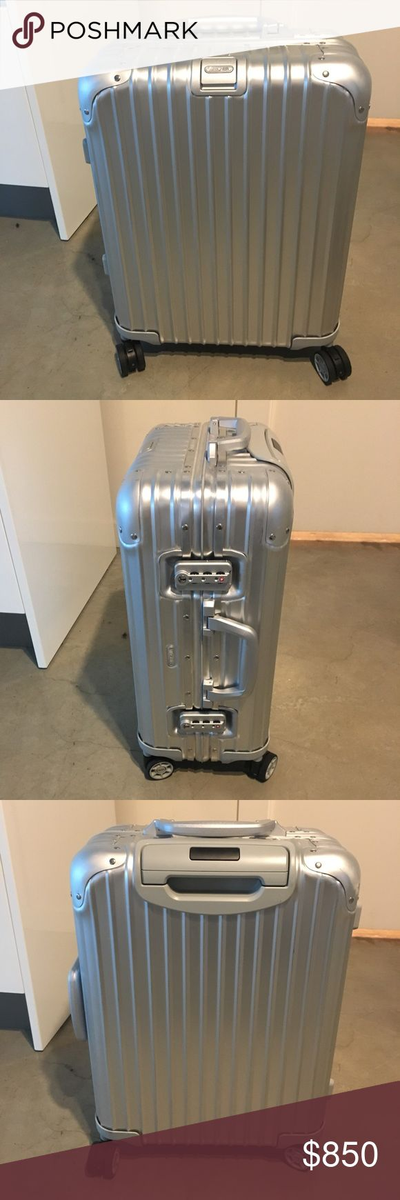 """Rimowa Topas This is a 29"""" Rimowa Topas.  It was purchased brand new in May of 2017 and used 3 times.  It's in mint condition and I still have all the original paper work including a 5 year warranty.  It's been a fantastic piece of luggage! Rimowa Bags Travel Bags"""
