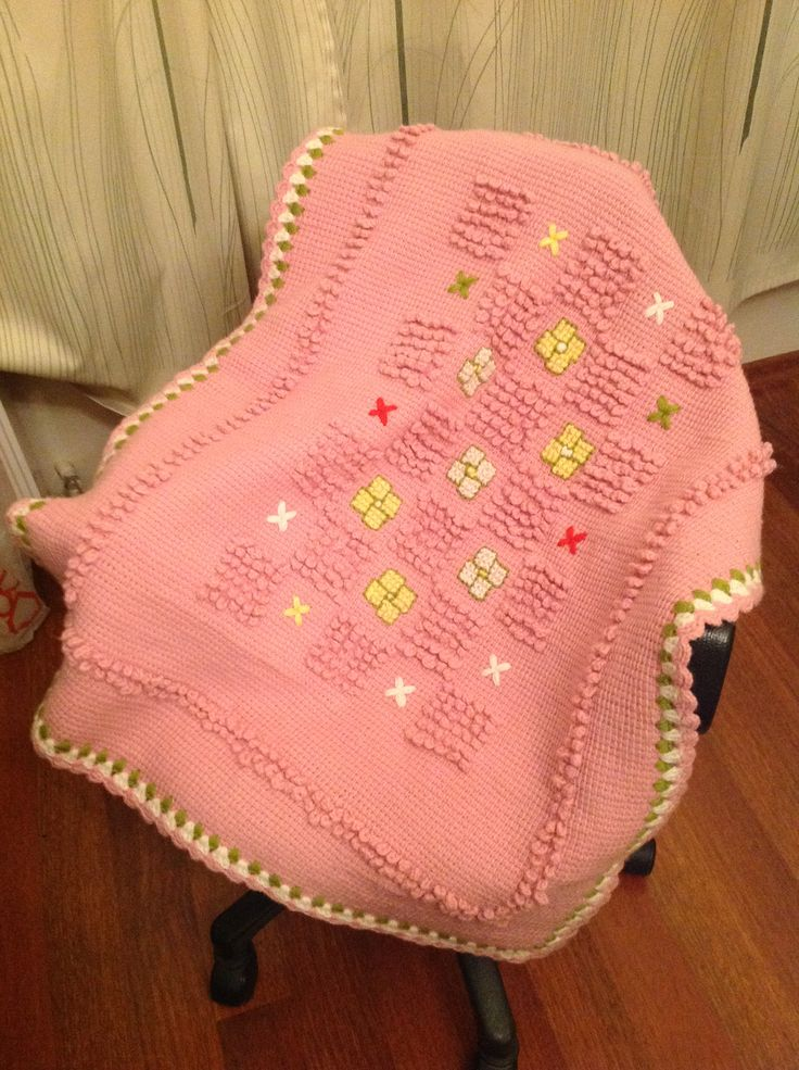 ı made this tunusian baby blanket
