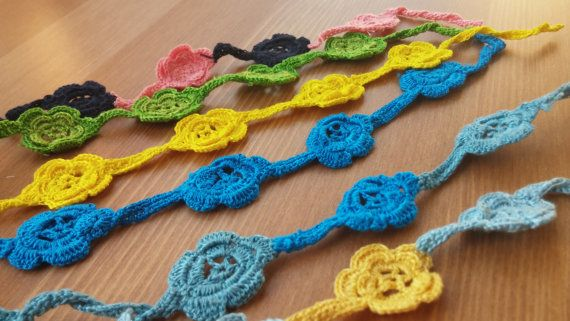 colorful bracelets knitted in hand by toocharmy on Etsy