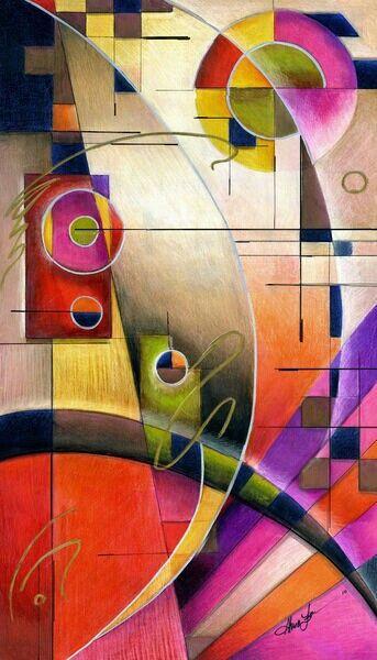 Huile sur toile de Vassily Kandinsky (1866-1944) peintre russe.