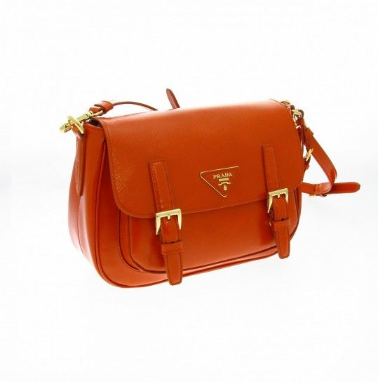 Hunting bag Prada papaya | Borse - Bags | Pinterest - prada galleria bag papaya