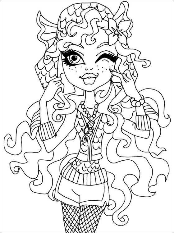 Monster High Printable Coloring Pages Free For Kids