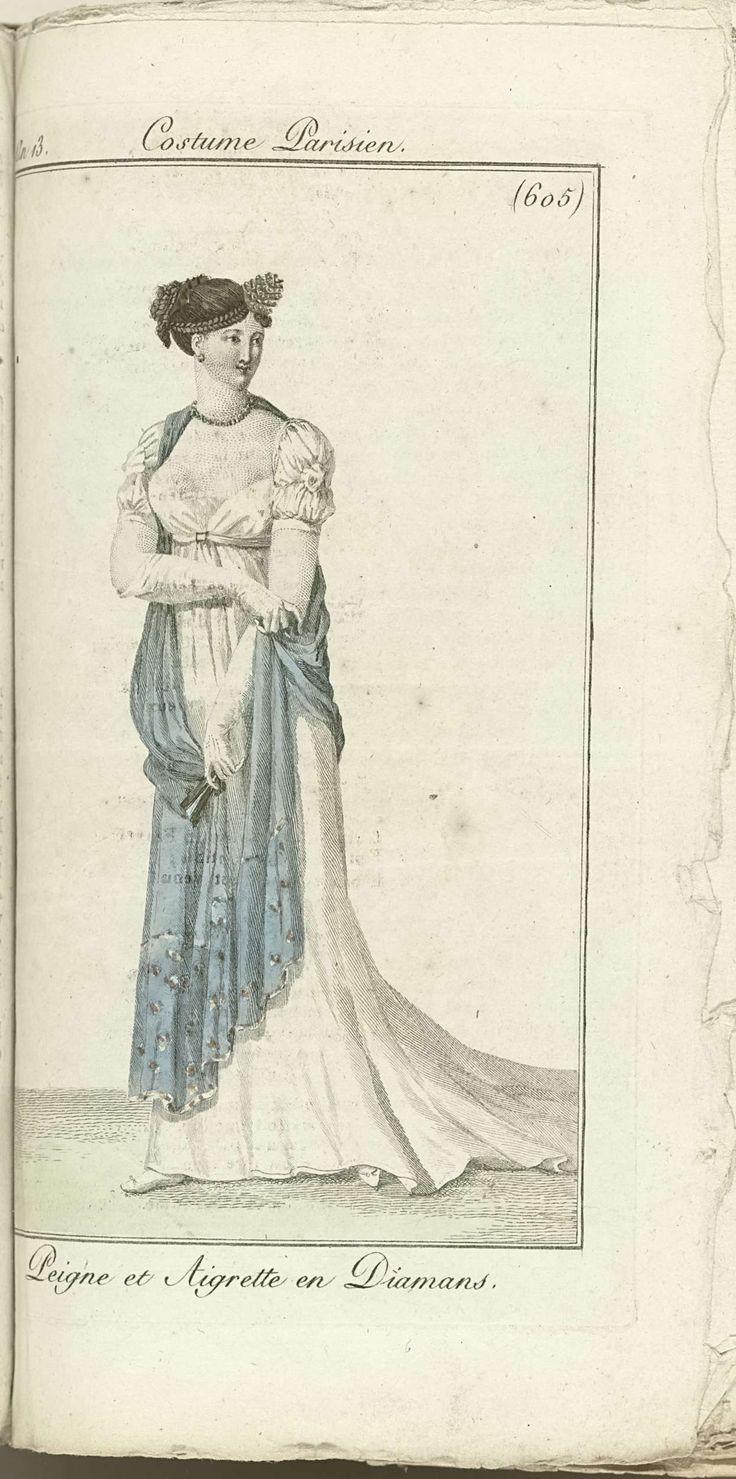Journal des Dames et des Modes, Costume Parisien, 1805, An 13 (605) Peigne et Aigrette en Diamans, Horace Vernet, Pierre de la Mésangère, 1805