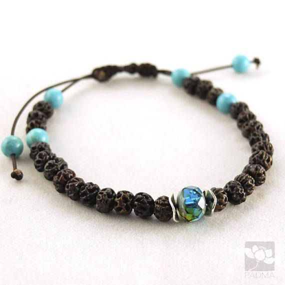 Natural seed beads / Blue Turquoise / Handmade Bracelet / Yoga
