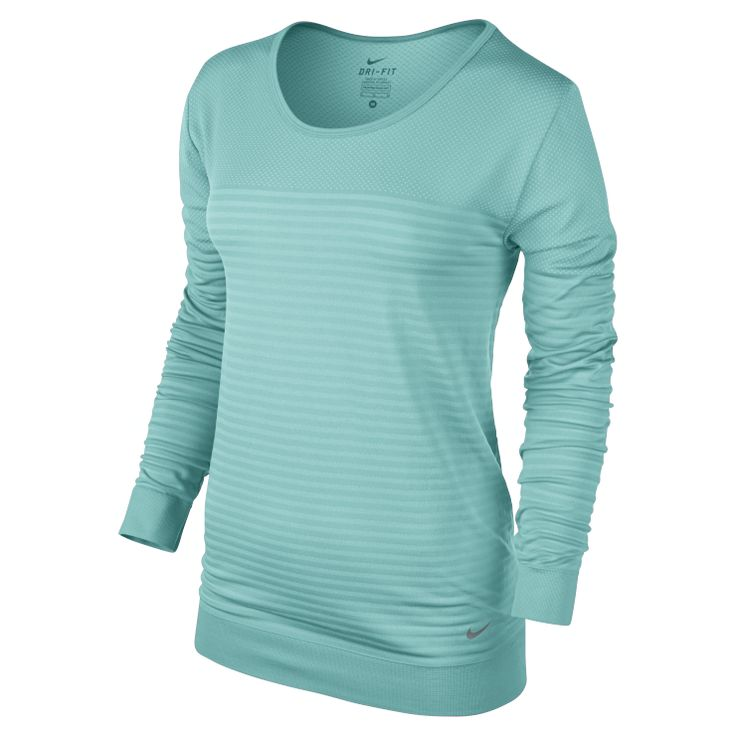 Nike Seamless Dri-FIT Knit Epic Crew - LOOSE FIT. EPIC COMFORT. The Nike Seamless Dri-FIT Knit Epic Crew Women's Training Shirt features soft, loose-fitting fabric with ventilation zones to help keep you dry and comfortable during your workout or when you're cooling down. Fast Drying This new Dri-FIT knit fabric pulls sweat away from your skin and dries faster than ever, so you stay comfortable. Open-hole mesh and ventilation zones provide breathability where you need it most. Relaxed Fit…