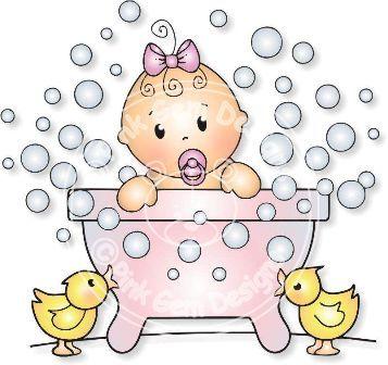 Free Digi Stamps | Bathtime Baby - Digi Stamp