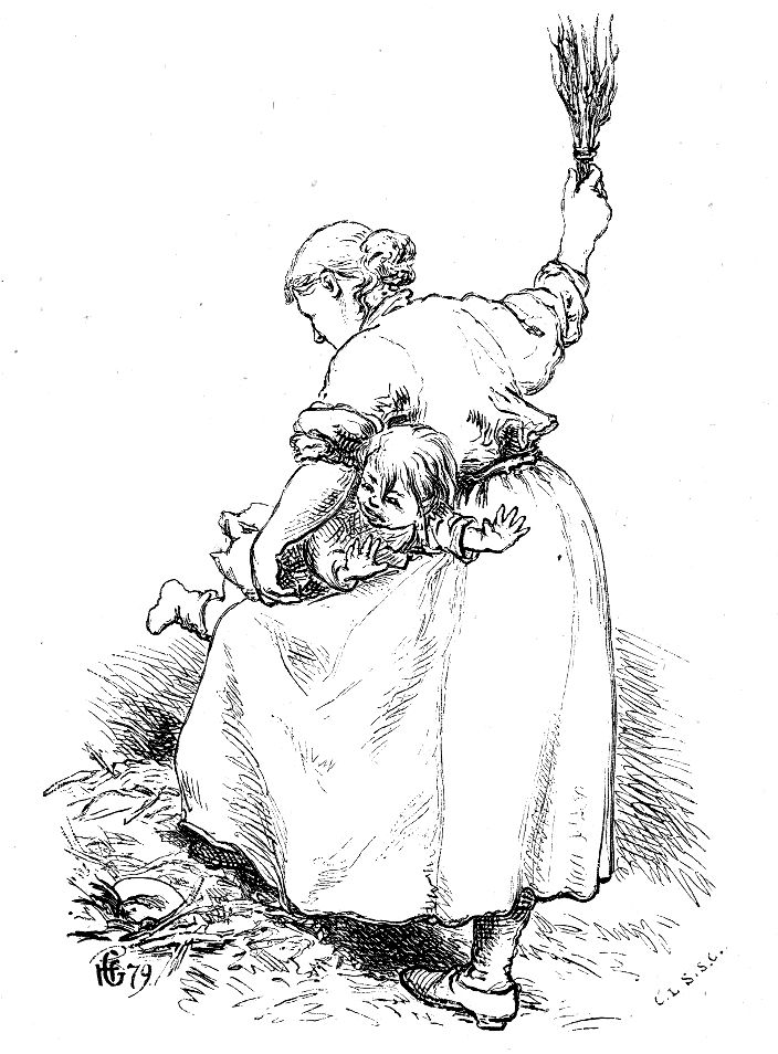 Hans Gude - Norske folke- og huldre-eventyr - En signekjærring 2. (1879). jpg (704×954)