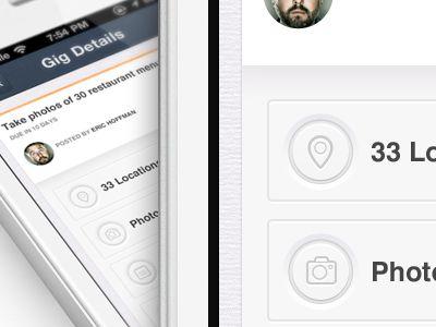 IOS, iPhone app design | Dashboard UI,UX interface