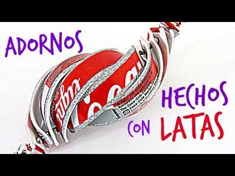 Cómo hacer adornos con latas de refresco. How to make ornaments with soda cans - YouTube