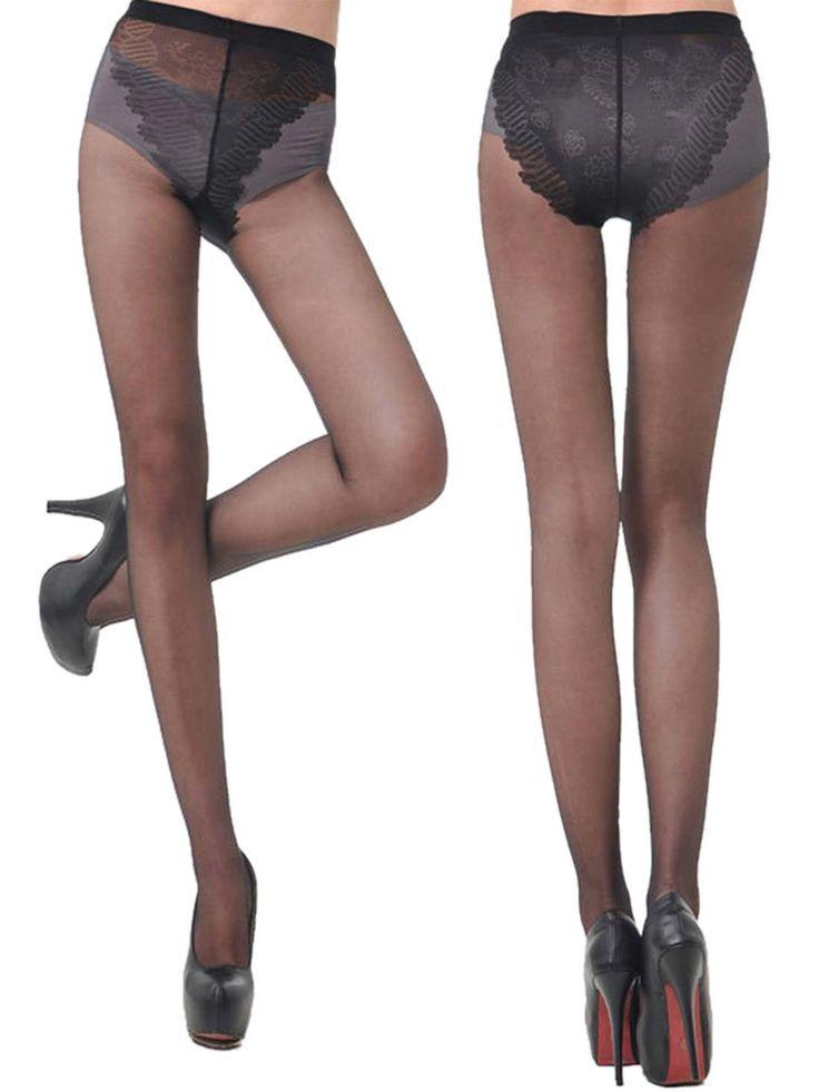 Shyle Black Full Length Pantyhose