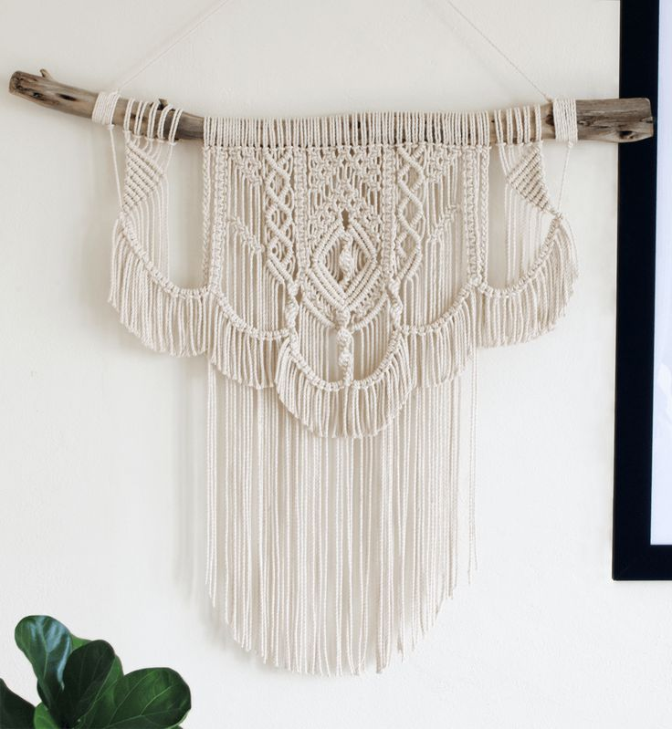 Francene | One of a kind handmade Macramé wall hanging on driftwood by Macramé Mons. One piece revealed each fortnight on a Monday ✖️