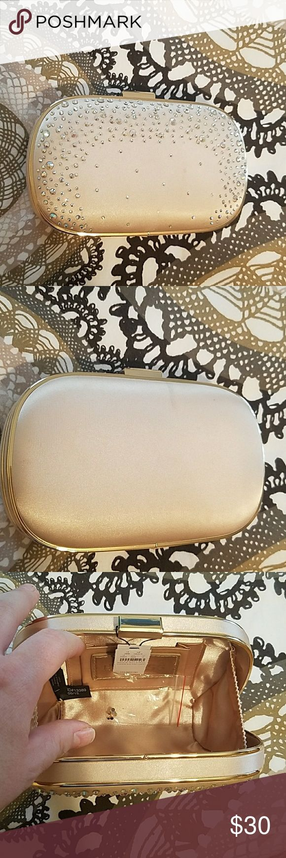 Gold Express Clutch Light Gold Color, Special Occasion Bag Express Bags Clutches & Wristlets