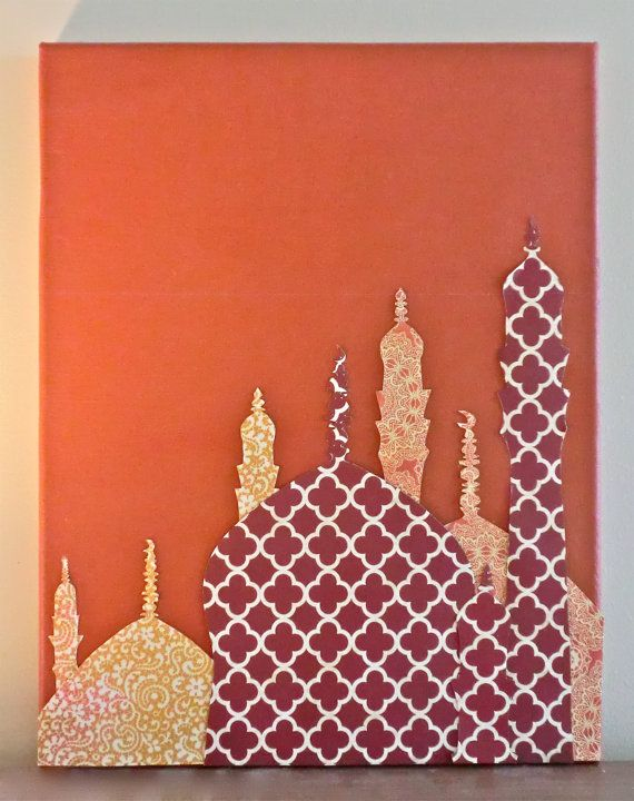 Mosque Skyline Canvas by JustPlainLiz on Etsy, $50.00